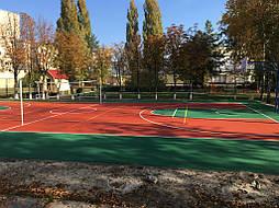 Двухслойное покрытие для спортивной площадки г. Миргород 36