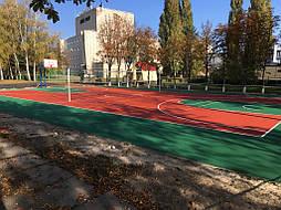 Двухслойное покрытие для спортивной площадки г. Миргород 37