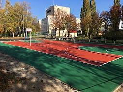 Двухслойное покрытие для спортивной площадки г. Миргород 38