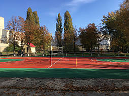 Двухслойное покрытие для спортивной площадки г. Миргород 40