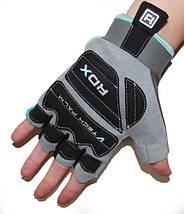 Перчатки для фитнеса женские RDX Blue L, фото 2