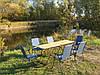 """Складная мебель """"Комфорт F2+6"""" легкая, удобная, качественная, (2 стола и 6 кресел)."""