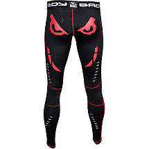 Компрессионные штаны Bad Boy Leggings Black/Red 2XL, фото 2
