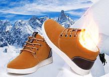 Стильні утеплені чоловічі кросівки, черевики, фото 2