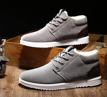 Стильные утепленные мужские кроссовки, фото 2