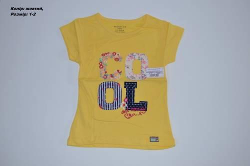 Футболка дівчинка Cool 7081 (жовтий) f1a5ce05047e5