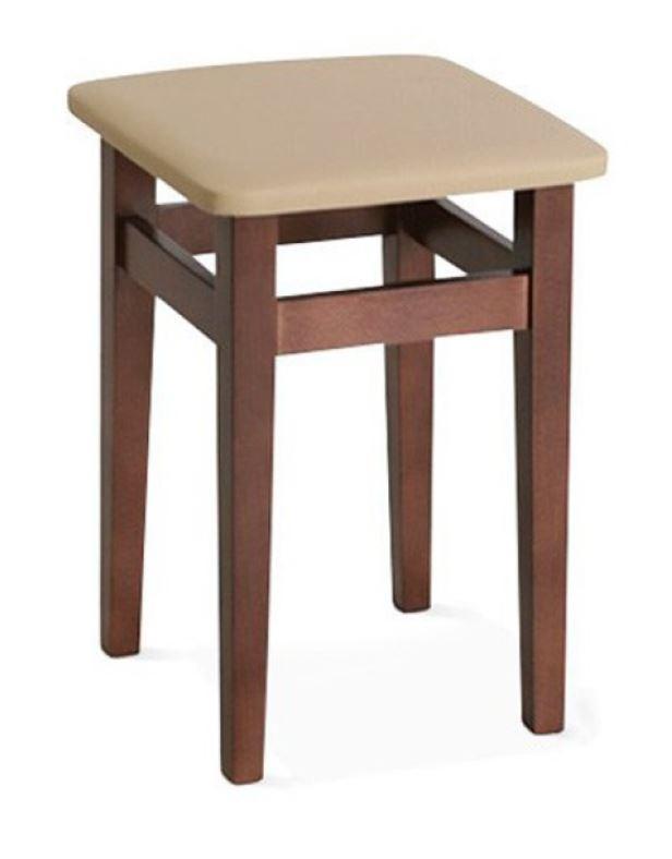 Табурет деревянный Т-65.4 (Орех, кожзам)