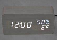 Электронные часыVST-862Sв деревянном корпусе, фото 2