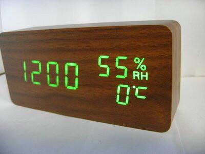 Электронные часыVST-862Sв деревянном корпусе