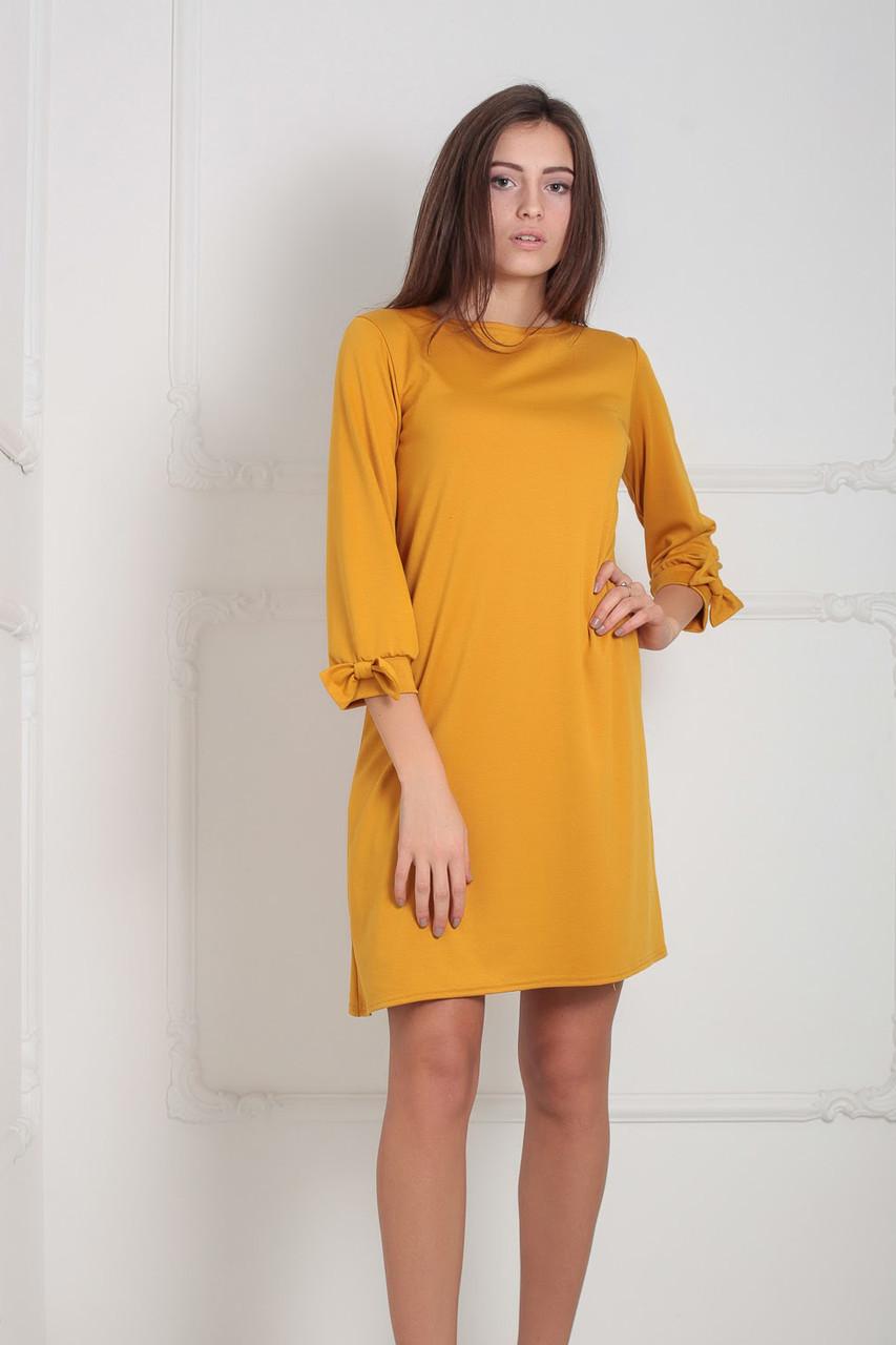 S, M, XL / Классическое женское платье Riana, горчичный