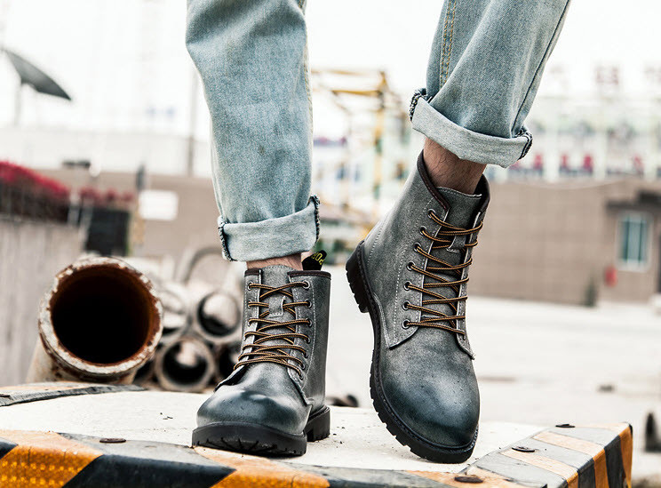 Отличные серые ботинки берцы, 39-42