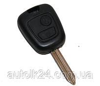 Корпус ключа Citroen 2 кнопки лезвием SX9
