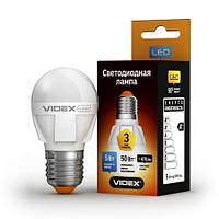 LED лампа VIDEX G45 5W E27 3000K 220V, фото 1