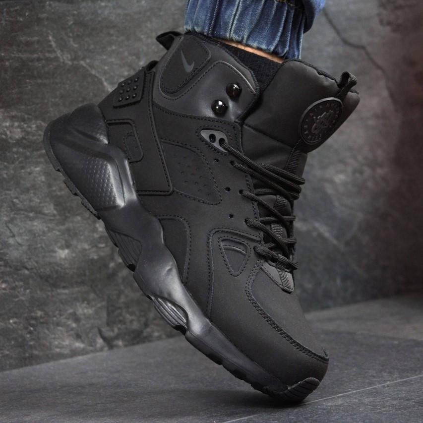 Nike Huarache Black (зимние с мехом) (в стиле nike)