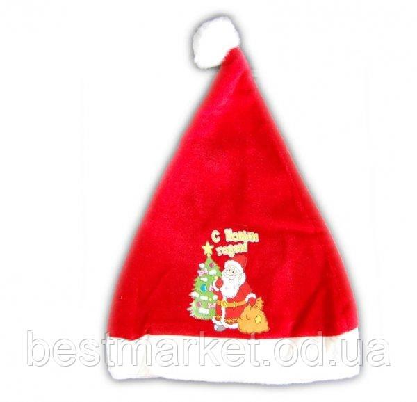 Новогодняя Шапка Деда Мороза Шапка Санта Клауса С Новым Годом Упаковка 12 шт