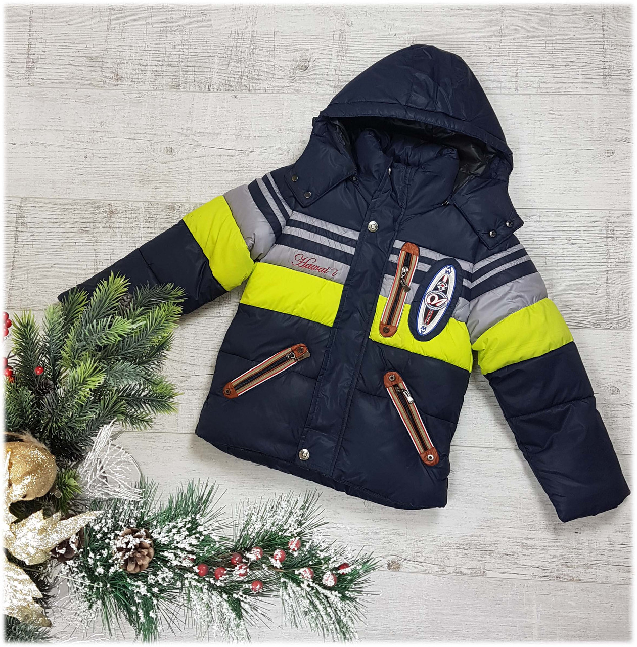 Куртка зимняя wa 1505,100% холлофайбер, теплая, размеры 92 -146 см, фото 1