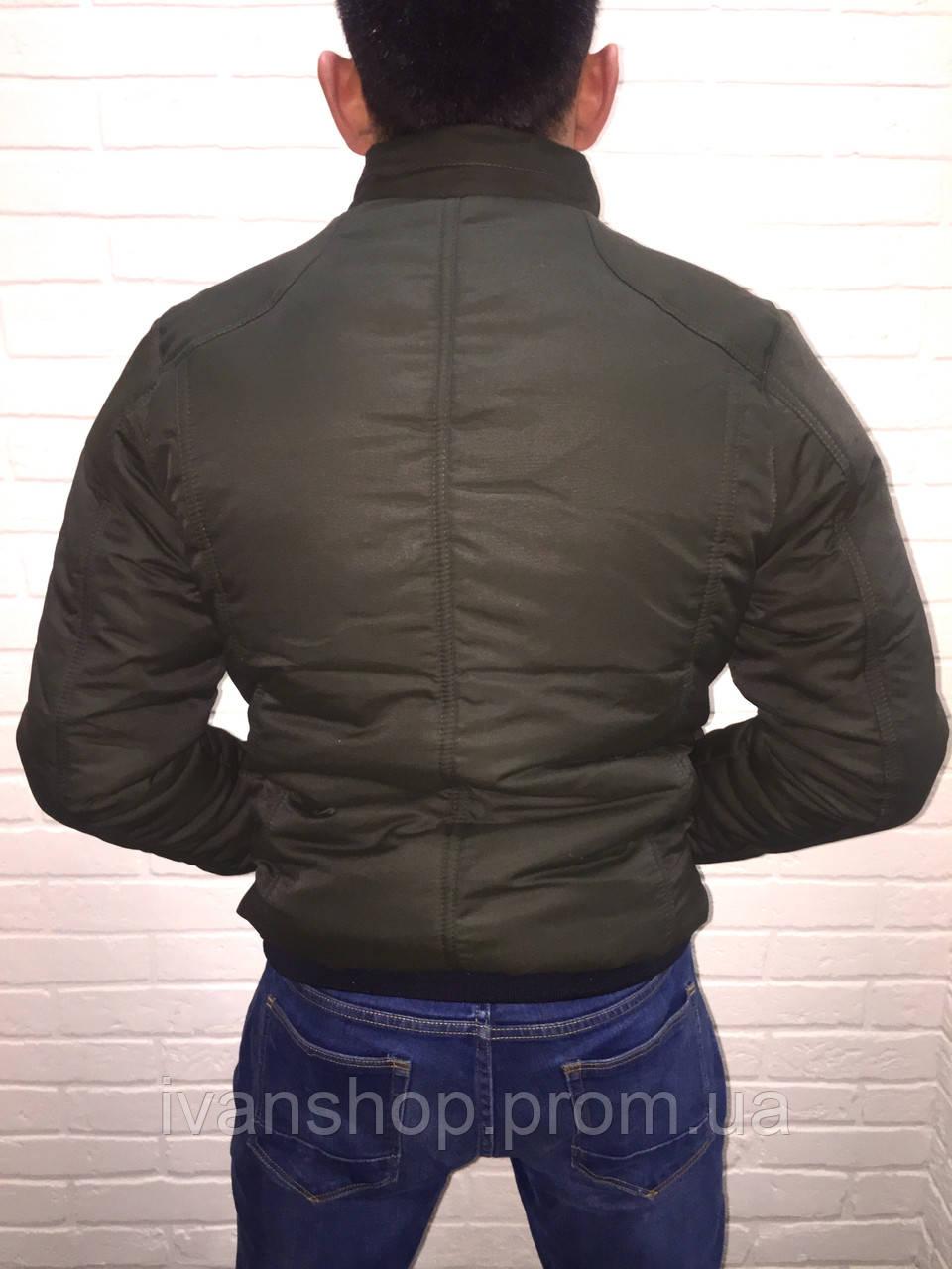 a679ab55bd0 Мужская куртка осень весна хаки  продажа