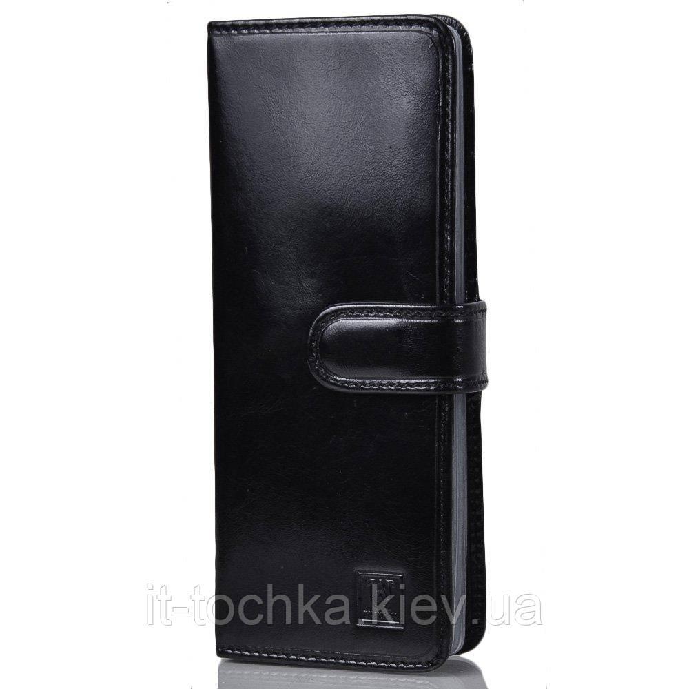 Мужская кожаная визитница wanlima w22440231419 black черная