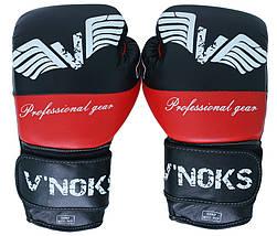Боксерские перчатки V`Noks Potente Red 12 ун., фото 3