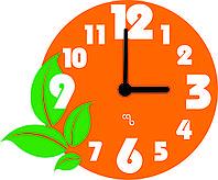 """Настенные часы """"Оранжевое настроение"""""""