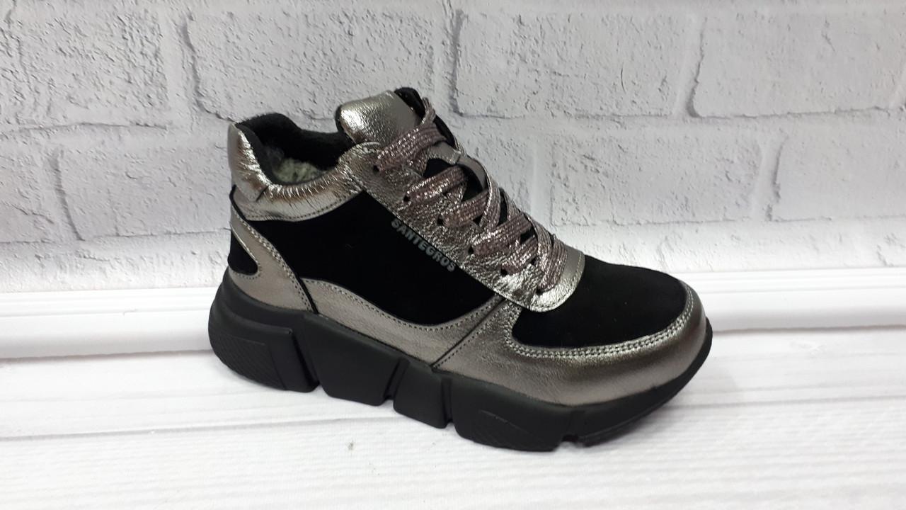 3f19e2c6 Женские зимние кожаные кроссовки Santegros. Украина - Интернет-магазин