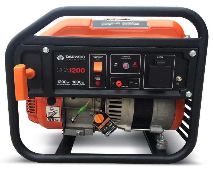 Бензиновый генератор Daewoo GDA 1200