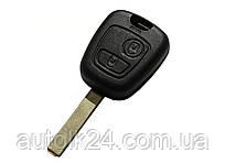 Корпус ключа Citroen 2 кнопки лезвием HU83