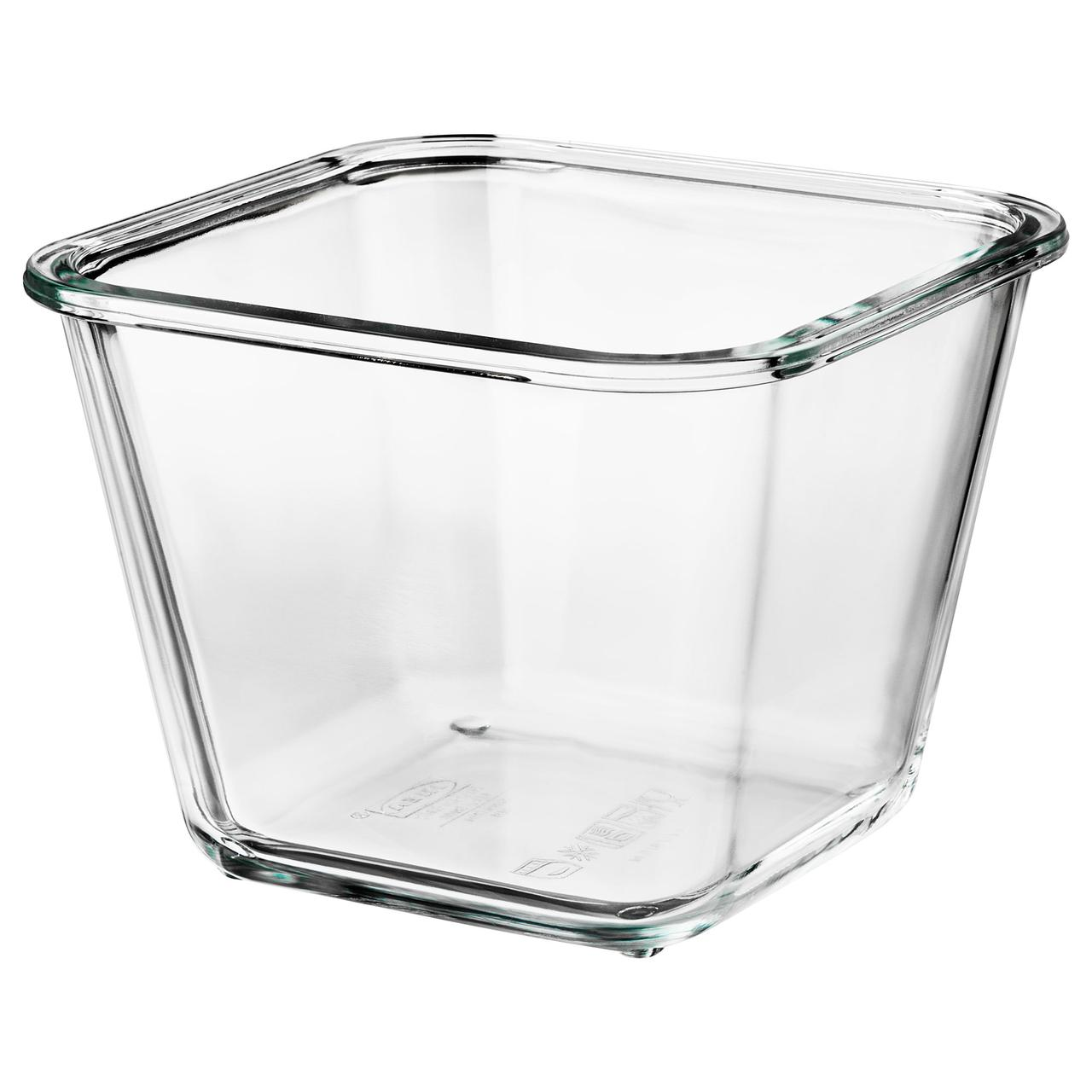 """IKEA """"ИКЕА/365+"""" Контейнер для продуктов, четырехугольной формы, стекло 1,2 л"""