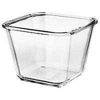 """IKEA """"ИКЕА/365+"""" Контейнер для продуктов, четырехугольной формы, стекло 1,2 л, фото 1"""