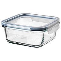 """IKEA """"ИКЕА/365+"""" Контейнер для продуктов с крышкой, четырехугольной формы стекло, стекло пластик, 600 мл"""