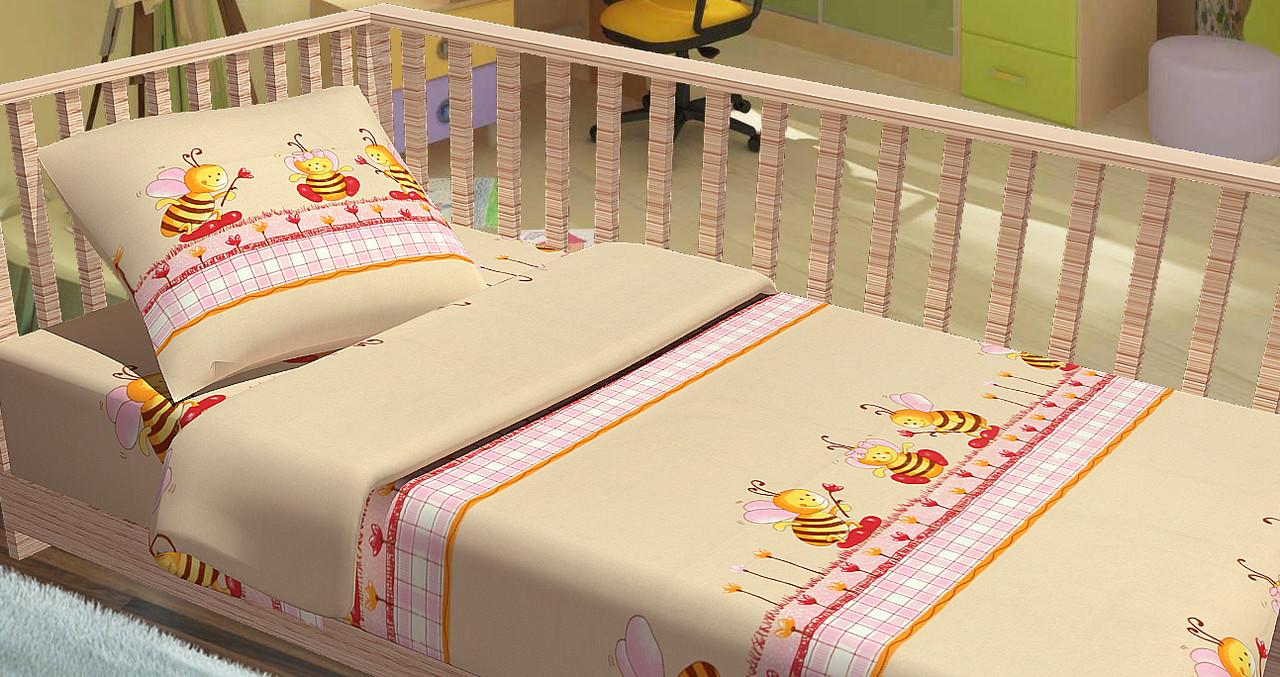 Постельное белье для новорожденный Kidsdream Пчелки.
