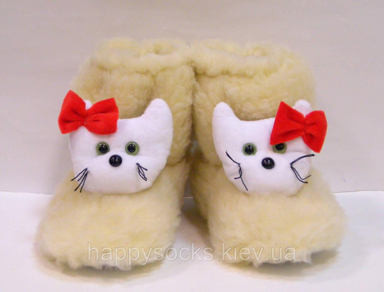 Комнатные детские меховые сапожки Кити