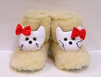 Комнатные детские меховые сапожки Кити, фото 1
