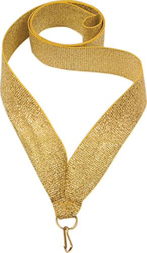 Лента для медали Золотая 22мм.