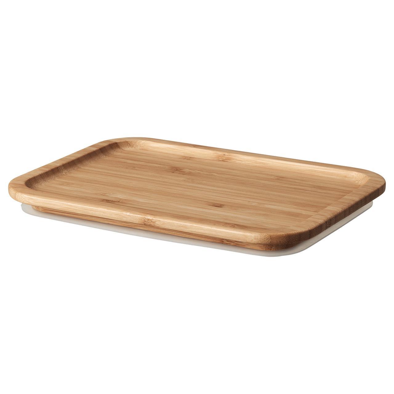 "IKEA ""ИКЕА/365+"" Крышка, прямоугольн формы, бамбук, 21*15 см, фото 1"