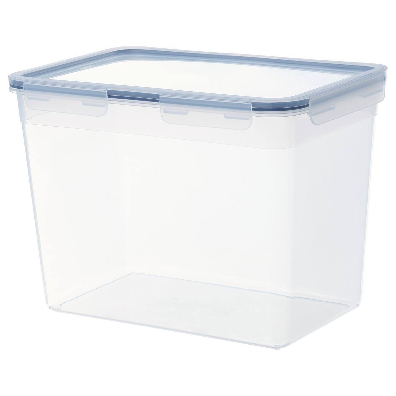 """IKEA """"ИКЕА/365+""""Контейнер для продуктов с крышкой, прямоугольн формы, пластик"""