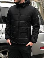 Классическая мужская, черная зимняя куртка, чоловіча зимова куртка