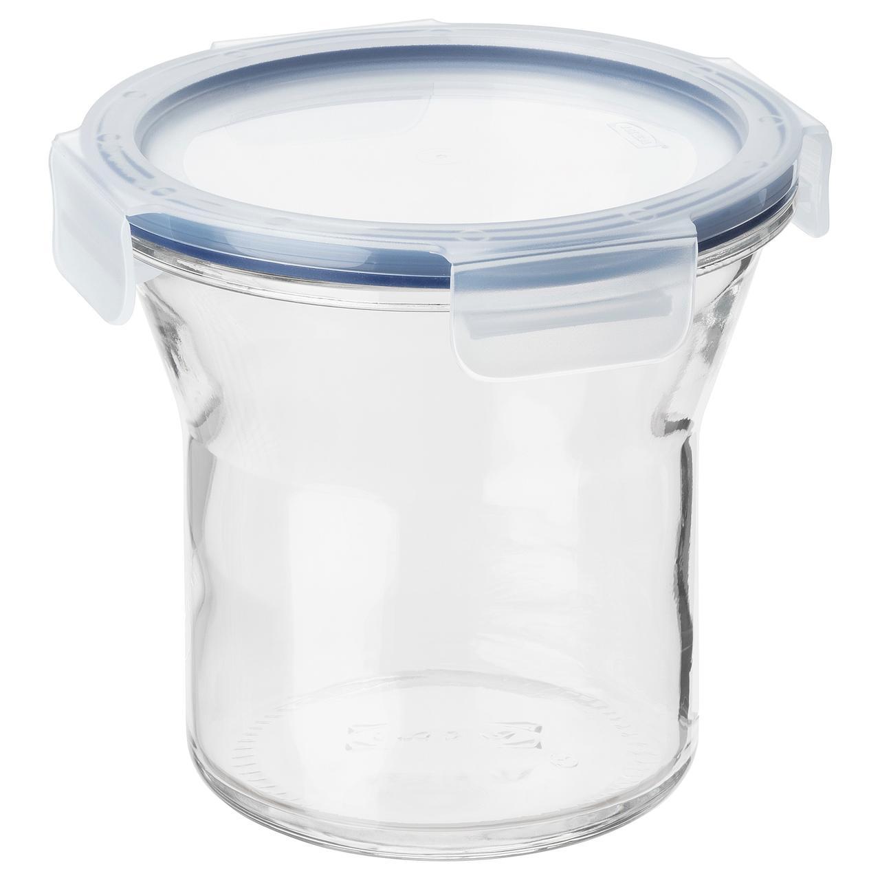 """IKEA """"ИКЕА/365+"""" Банка с крышкой, стекло, пластик, 1,0 л"""
