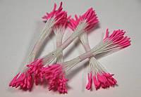 Тычинки розовые острые 25шт.(код 00281)