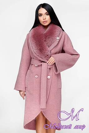 Зимнее пальто женское с большим мехом (р. 44-54) арт. 1089 Тон 170, фото 2
