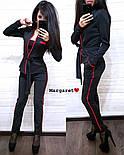 Женский стильный костюм-тройка: жакет, брюки с лампасами и пояс (5 цветов), фото 10