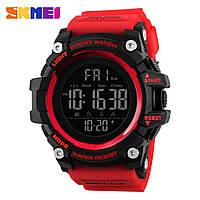 Skmei 1384 красные мужские  спортивные часы, фото 1
