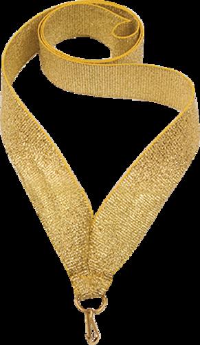 Лента атласная 22 мм. Золотая