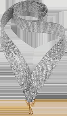 Лента для медали Серебряная 22мм.