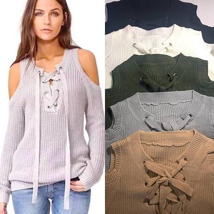 c227e16457e Серый свитер женский с открытыми плечами  Цена