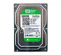 "Жесткий диск для компьютера 500 Гб Western Digital Green, SATA 3, 64Mb, IntelliPower (5400 rpm - 7200 rpm) (WD5000AZRX), накопитель винчестер HDD 3.5"""