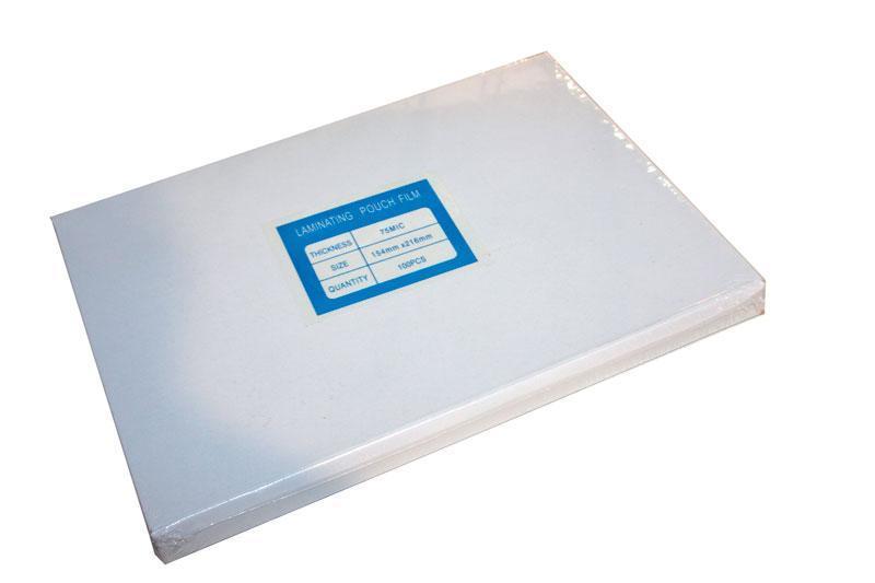 Пленка А5 (154x216), 75 micron (38/37), Glossy, 100 листов