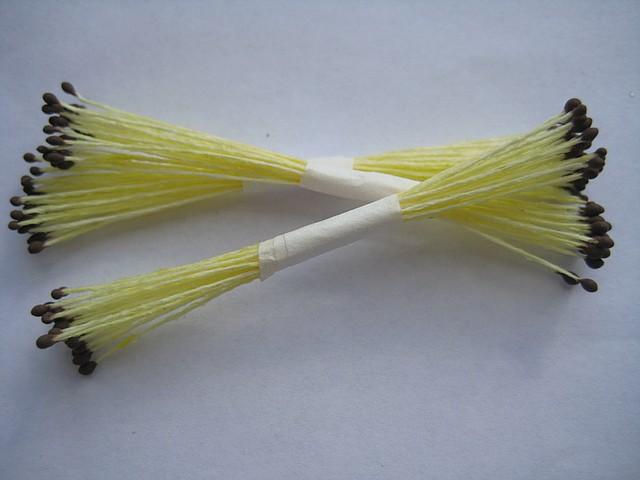 Тычинки для цветов коричневые круглые (маленькие) 25 шт. Украина - 00503