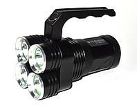 Мощный светодиодный фонарь Bailong BL-D804 4хТ6, фото 1