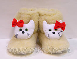 Меховые детские сапожки Кити для дома